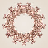 Rose pink floral pattern. Round florid pattern in pastel rose pink shades Royalty Free Stock Photography