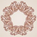 Rose pink floral pattern. Round florid pattern in pastel rose pink tints Royalty Free Stock Photo