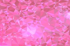 Rose Pink Poly Triangle Background-Patroonvector Royalty-vrije Stock Fotografie
