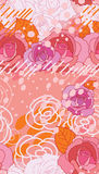 Rose pink space style long seamless pattern Stock Image