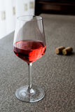Rose or Pink Wine in glass Stock Photos