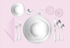 Rose Place Setting Royalty Free Stock Photography