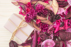 Rose Potpourri with Soap Stock Photos