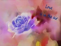Rose pour le Saint Valentin Image libre de droits