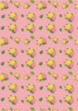 Mothers Day Pink and Yellow Rose with Pokka dot pattern stock illustration