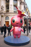 Rose the Printemps Mascot and Policemen Paris Stock Photo