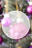 Rose Quartz Balls vertical, espaço da cópia Fotografia de Stock Royalty Free