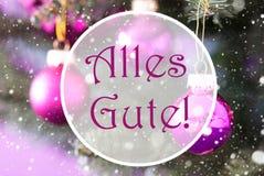Rose Quartz Christmas Balls, Alles Gute significa recuerdos Imagenes de archivo