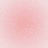 Rose Quartz colored winter holiday background with stars Royalty Free Stock Images