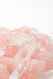 Rose quartz and Crystal Royalty Free Stock Images