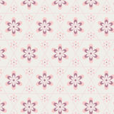 Rose Quartz flower in hexagon seamless pattern Royalty Free Stock Images