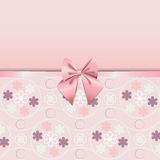Rose Quartz flower seamless pattern decorated with pink ribbon romance. Rose Quartz flower seamless pattern. Decorated with ribbon and bow cute. Beautiful Royalty Free Stock Photography