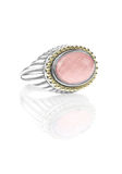 Rose Quartz Gemstone Ring Stock Image