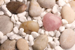 Rose quartz heart. Royalty Free Stock Images
