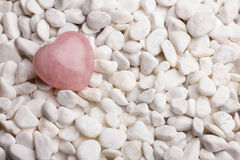 Rose quartz heart. Stock Photography