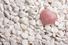 Rose quartz heart. Royalty Free Stock Photo