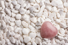 Rose quartz heart. Royalty Free Stock Photography