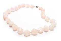 Rose quartz necklace Stock Photography