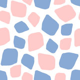 Rose quartz and serenity background mosaic. Abstract geometric seamless pattern of spots in color 2016 rose quartz and serenity, pink and blue background mosaic Stock Photo