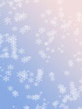 Rose Quartz and Serenity colored winter holiday background with snowflakes Royalty Free Stock Image