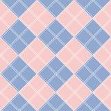 Rose Quartz Serenity Diamond Chessboard-Hintergrund Lizenzfreie Stockfotografie