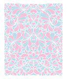 Rose Quartz and Serenity trendy colors of the year 2016 in the pattern. Doodle style ornament with floral elements. For fabric textile or print design Stock Photos