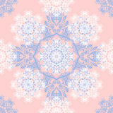 Rose Quartz and Serenity trendy colors of the year 2016 in the seamless pattern. Royalty Free Stock Photos
