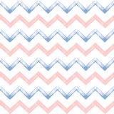 Rose quartz and serenity zigzag chevron grunge seamless pattern. Zigzag chevron grunge seamless pattern in color 2016 rose quartz and serenity, hand painted Royalty Free Stock Images