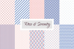Rose quartz and Violet geometric seamless pattern Royalty Free Stock Images