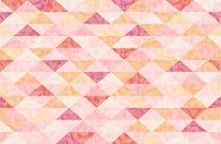 Rose Quatz Marble Triangle Pattern Stock Image