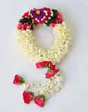 Rose queen of flowers and garland art. Rose queen of flowers and love garland art from thailand Stock Image