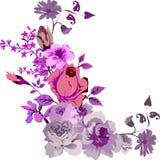 rose różowego corner projektu ilustracja wektor