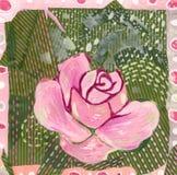 rose różowego kolaż ilustracja wektor