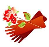rose rękawiczki Obrazy Stock