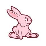 Rose Rabbit drôle dans le style comique illustration libre de droits