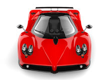 Rose red concept super sports car - front view Stock Photography
