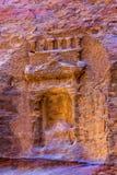 Rose Red Rock Tomb Outer pequena Siq Petra Jordan Fotografia de Stock Royalty Free