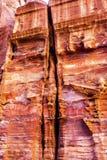 Rose Red Rock Tomb Street das fachadas Petra Jordan Imagem de Stock