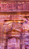 Rose Red Rock Tomb Street das fachadas Petra Jordan Imagens de Stock Royalty Free