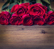 Rose. Red roses.  Bouquet of red roses. Several roses on Granite background. Valentines Day, wedding day background. Stock Photo