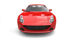 Rose red super sports car - front view Stock Images