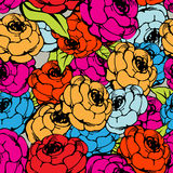 Rose repeating pattern Stock Photography