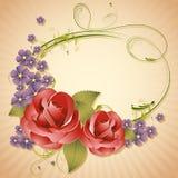 Rose on Retro Background Royalty Free Stock Image