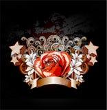 Rose with ribbon Stock Photos