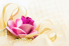 Rose and ribbon Royalty Free Stock Image