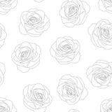Rose - Rosa Outline Background Jour de Valentine Illustration de vecteur Illustration de Vecteur