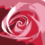Rose rosada abstracta Stock de ilustración