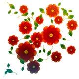 Rose rosse decorative Immagini Stock