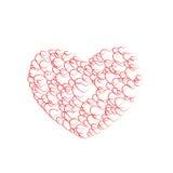 Rose rosse del modello del fondo in biglietto di S. Valentino Immagini Stock
