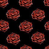 Rose rosse sul blackbackground royalty illustrazione gratis